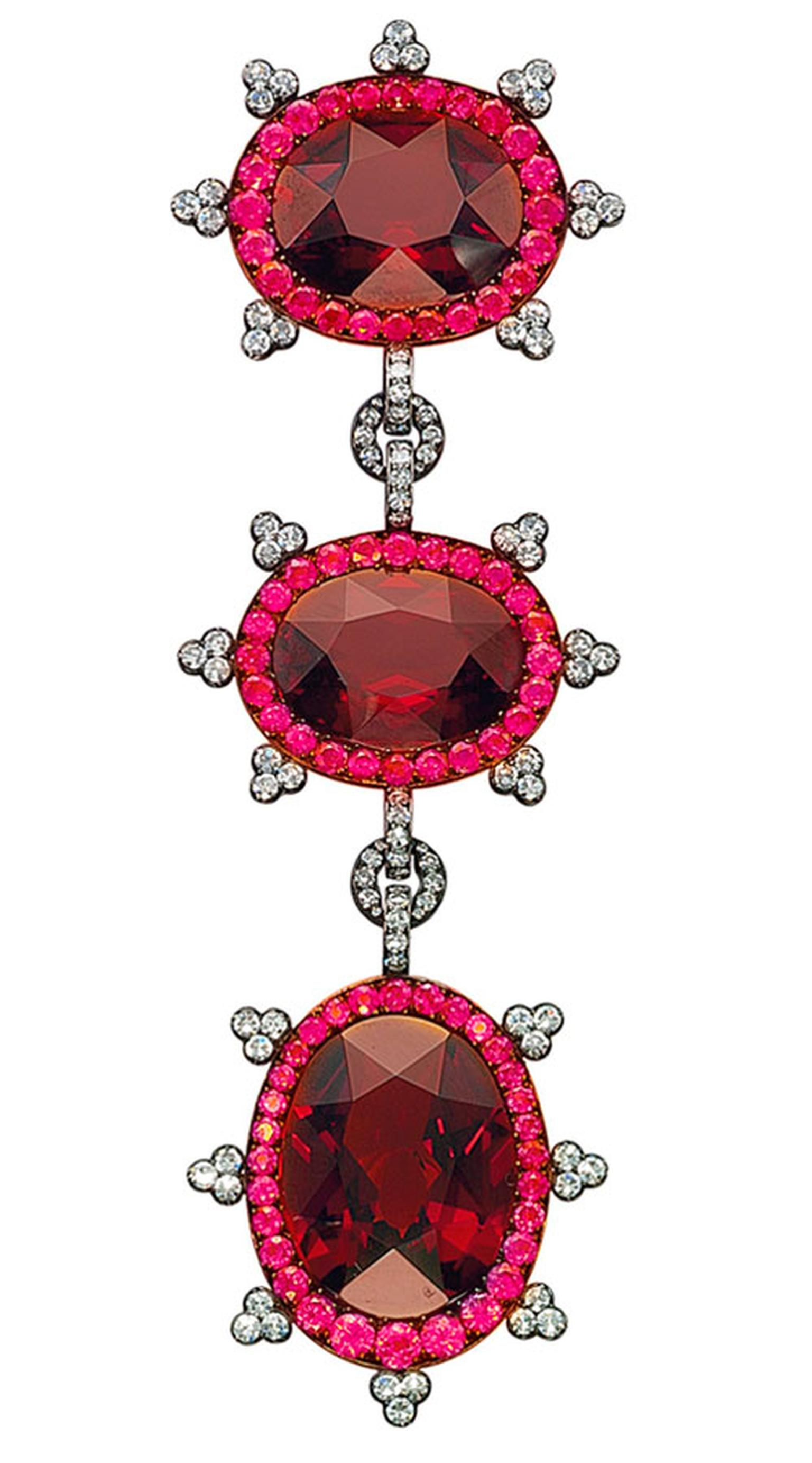 Christies Lily Safra A-garnet,-ruby-and-diamond-pendant-brooch