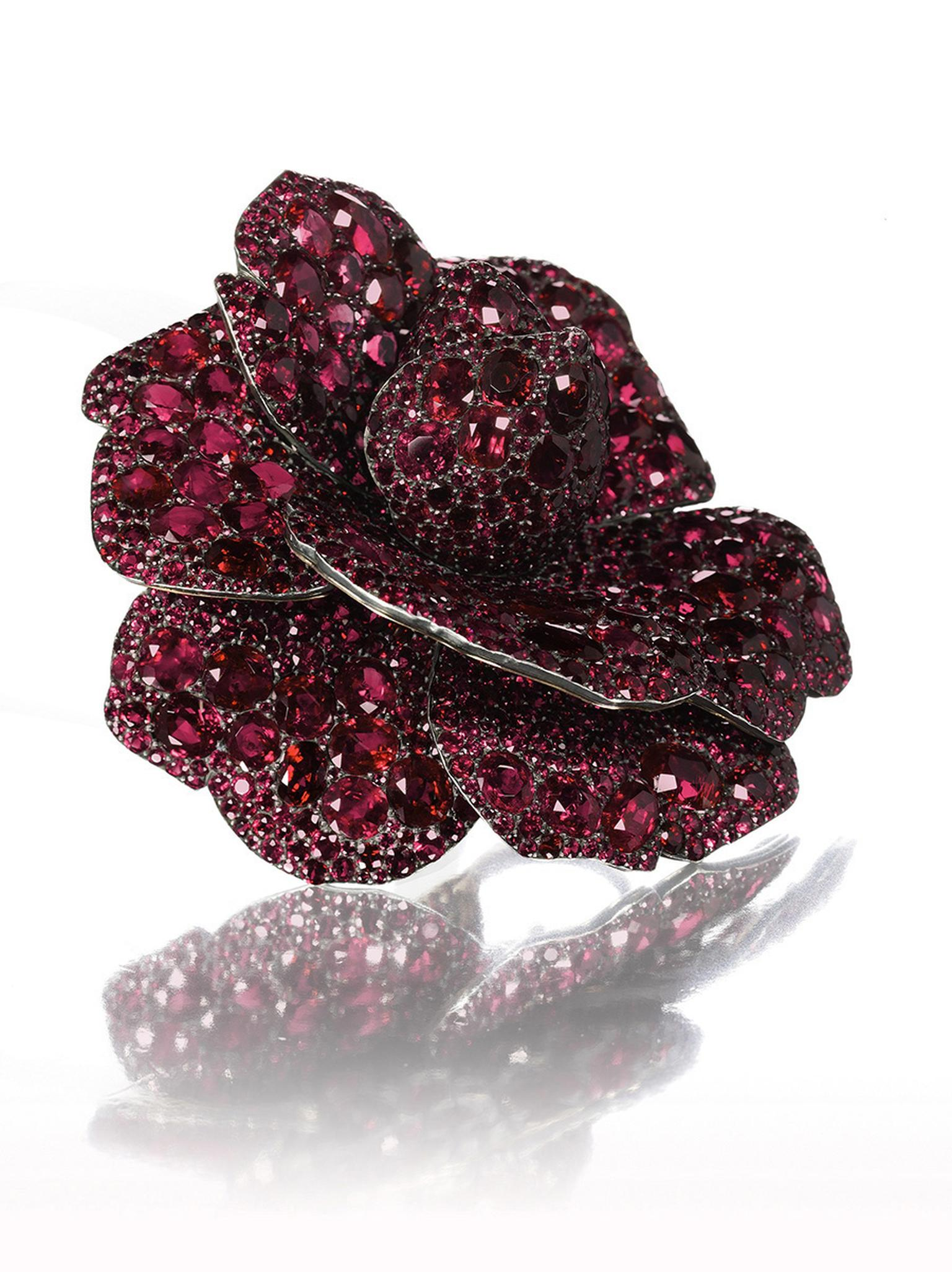 Ruby and diamond brooch by JAR 2003