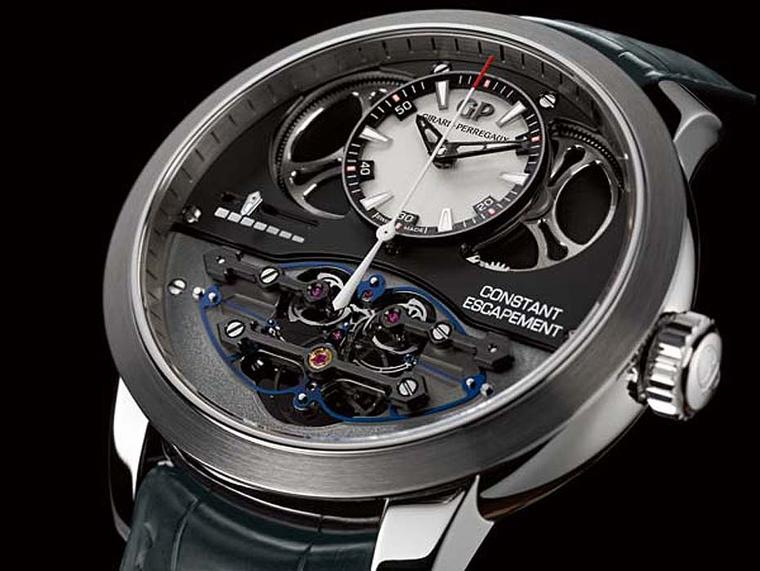 "The ""Aiguille d'Or"" Grand Prix prize went to Girard-Perregaux for the Constant Escapement L.M. watch"