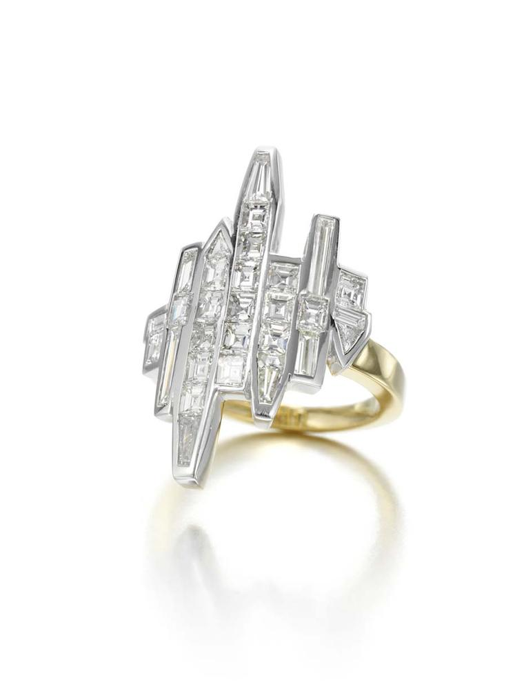 Jessica McCormack New York Reflection diamond ring, which depicts the famous city skyline