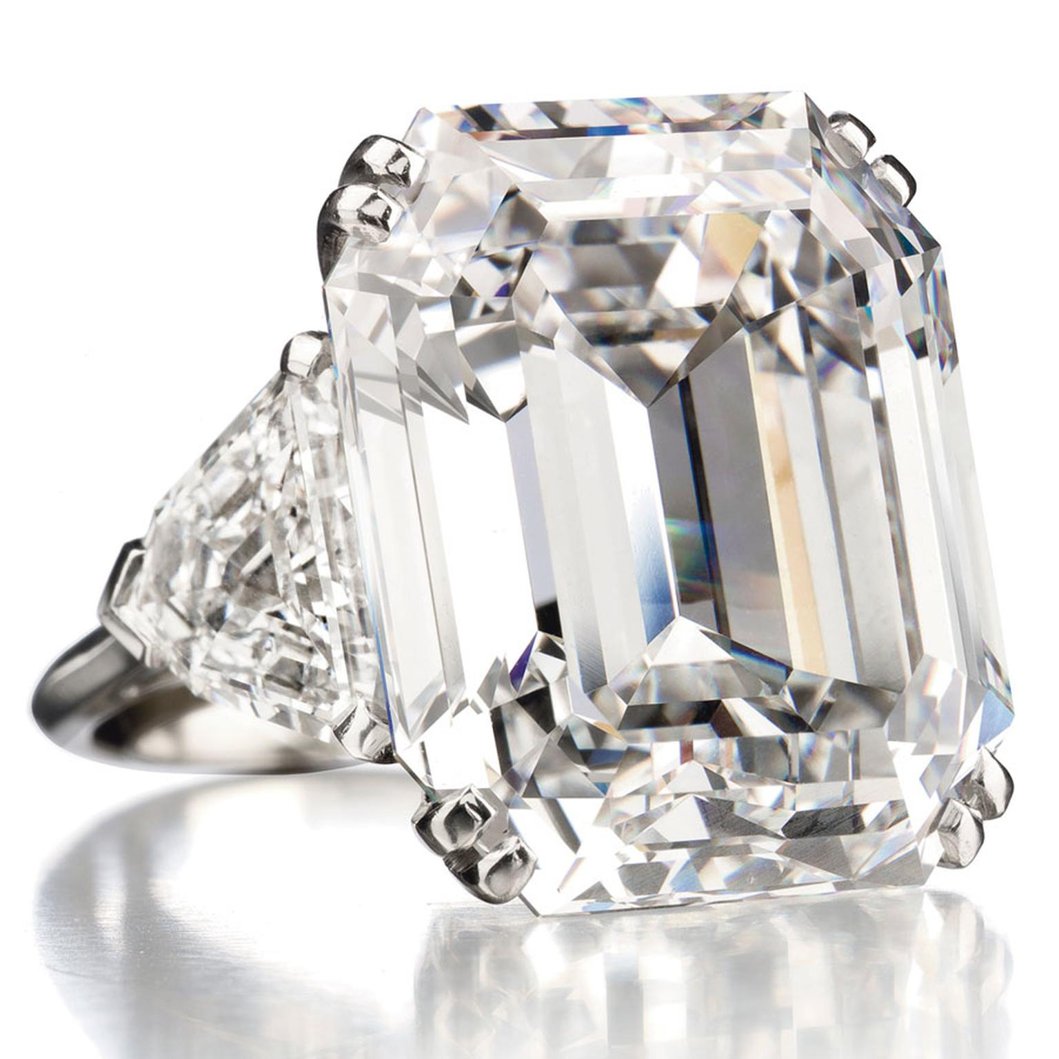 Christies carats-rectangular-cut-diamond-ring