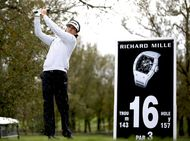 Richard Mille demonstrates the prowess of his machines for the wrist at the Terre Blanche Golf Resort