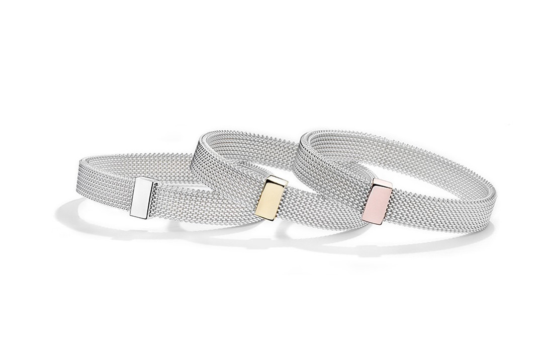 Available in white or black steel, the Moi Non Plus, Toi Non Plus bracelet comes with either a yellow, pink or white gold link ($500-$560).