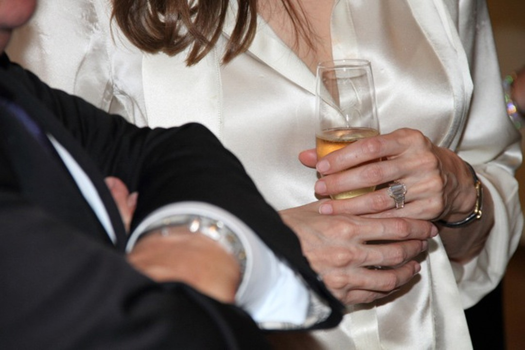 Close Up Angelina's engagement ring