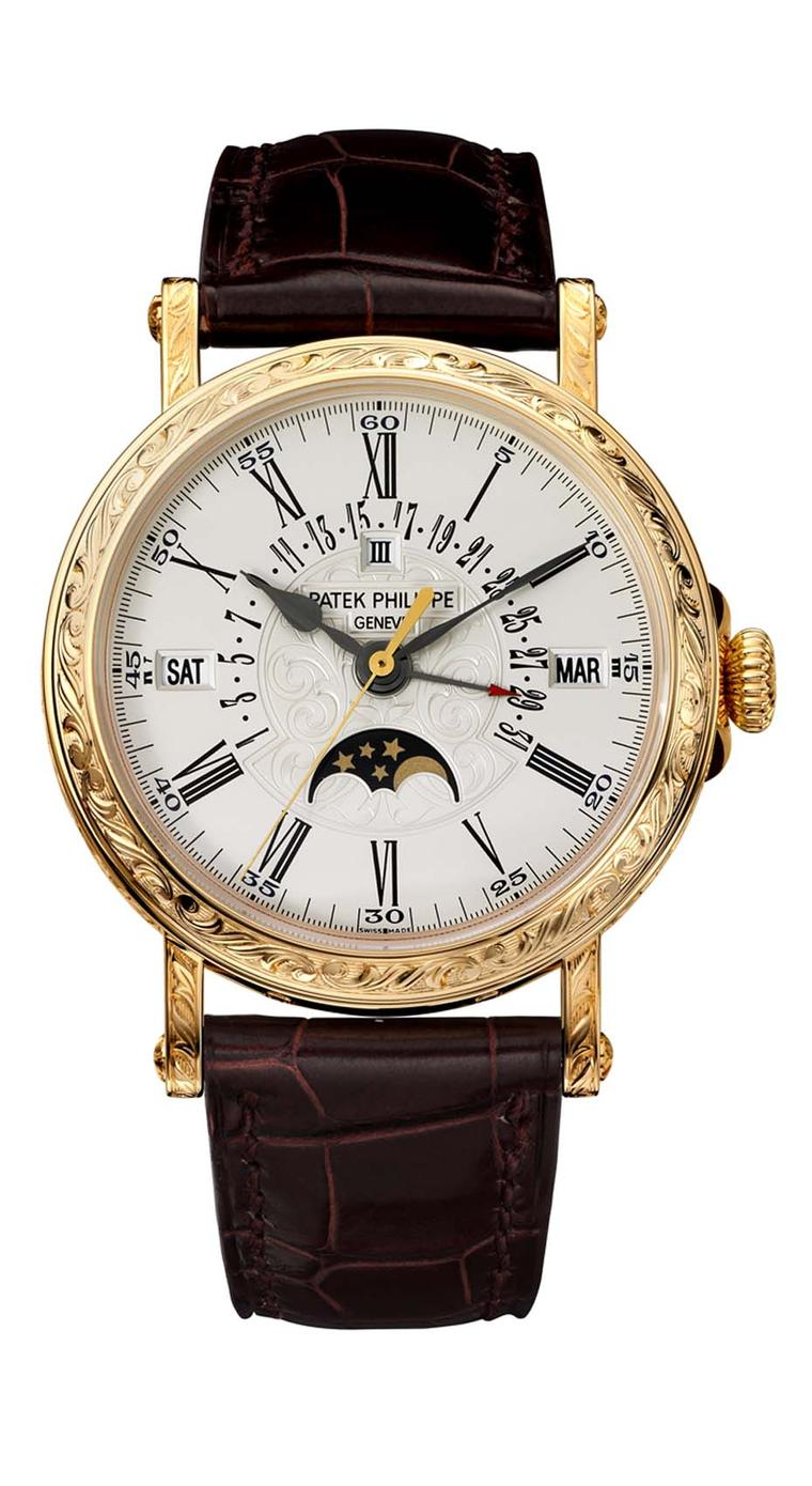 Patek Philippe Engraved Perpetual Calendar watch Ref. 5160