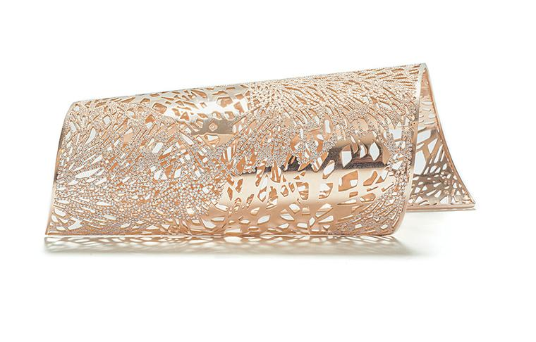 Repossi Art Nouveau cuff in pink gold.