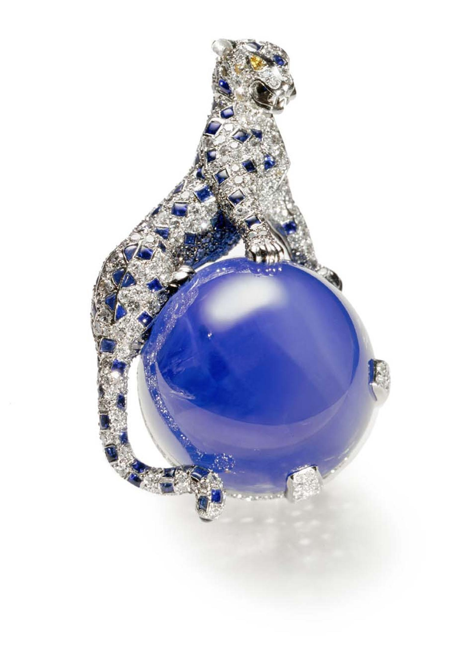 "The Duchess of Windsor's Panther brooch from 1949, which the press referred to at the time as the ""atomic bomb of jewellery"", was recently exhibited at the Cartier Style and History exhibition in Paris"