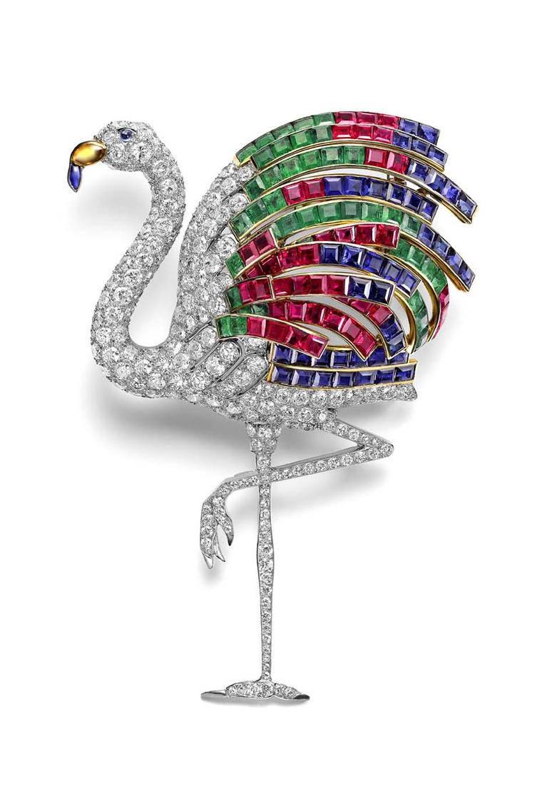 The Duchess of Windsor's 1940 Flamingo brooch was designed by Cartier's stylistic director Jeanne Toussaint