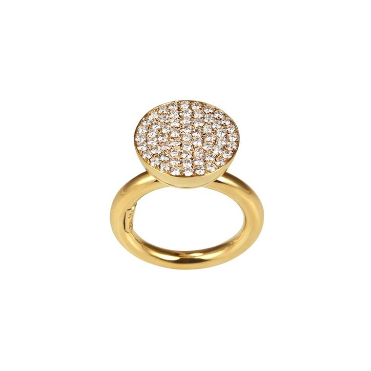 The yellow gold and diamond Elena Votsi Light and Shadow 11mm ring