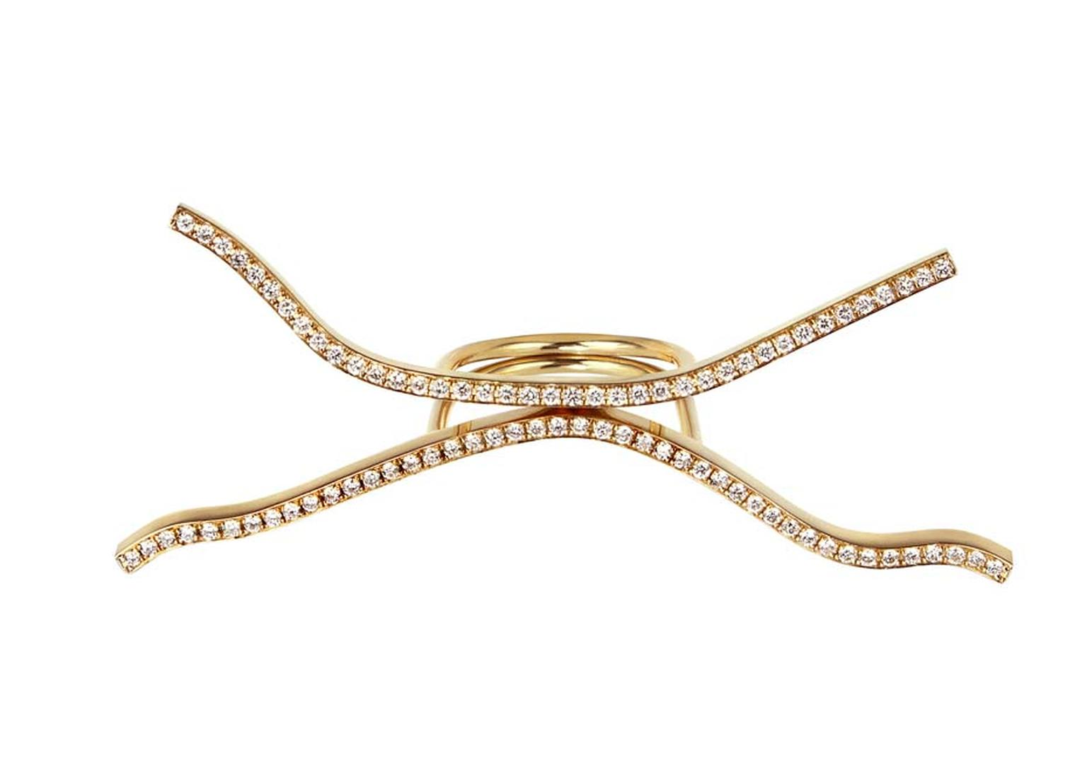 Elena Votsi's gold Crazy Line rings