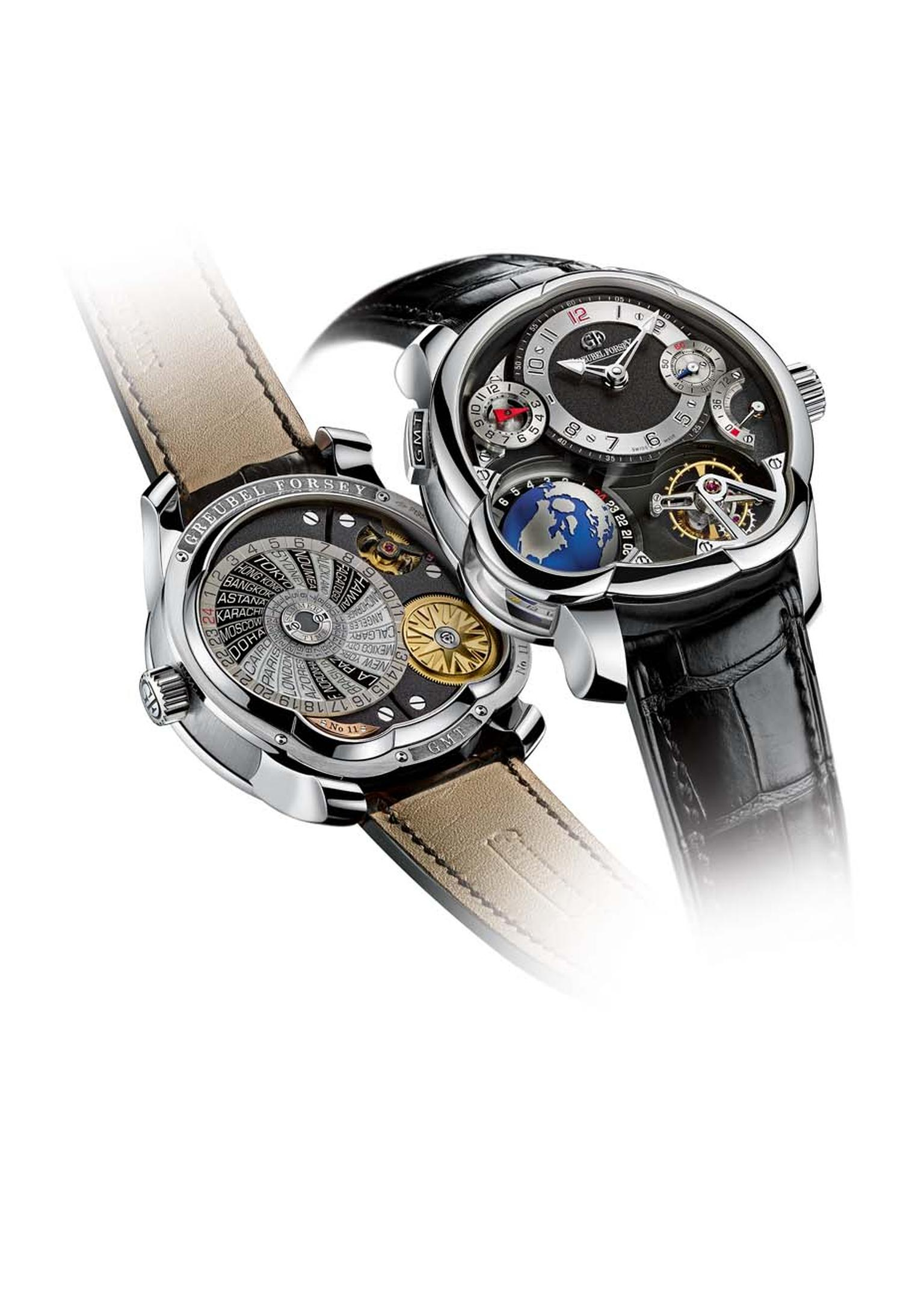 Greubel Forsey will be launching its superlative 2011 GMT model in a new platinum case at the SIHH 2014 in Geneva.
