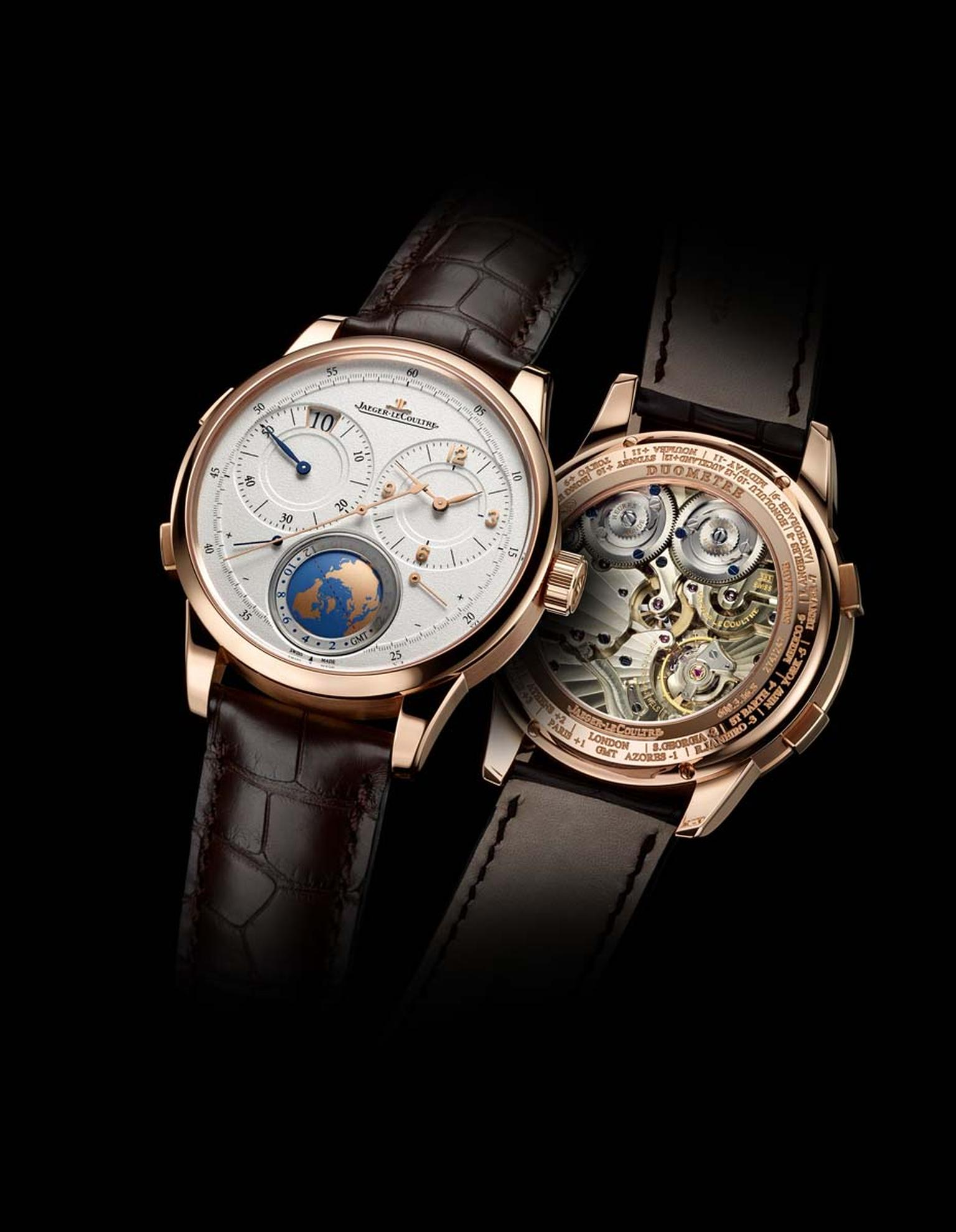 Jaeger-LeCoultre's new Duomètre Unique Travel Time in pink gold is the first world time watch that allows to-the-minute adjustment of the second time zone.