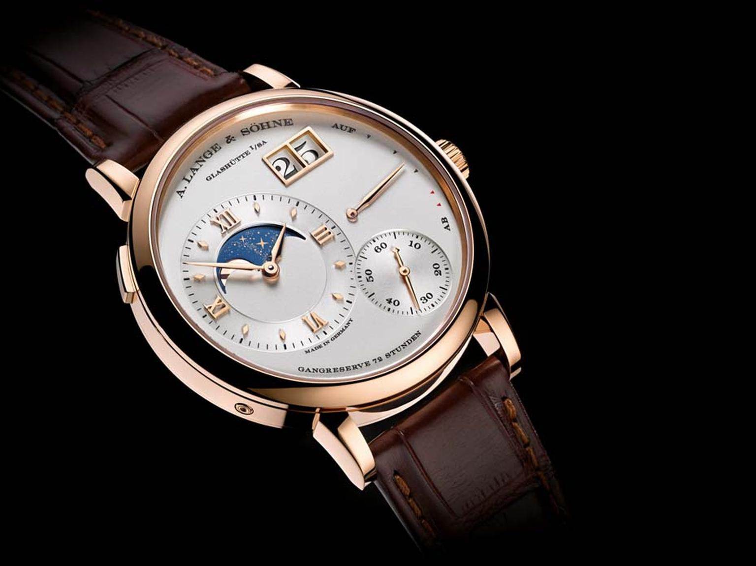 Lange & Sohne's Grande Lange 1 Moon Phase watch is designed to remain accurate for 122.6 years