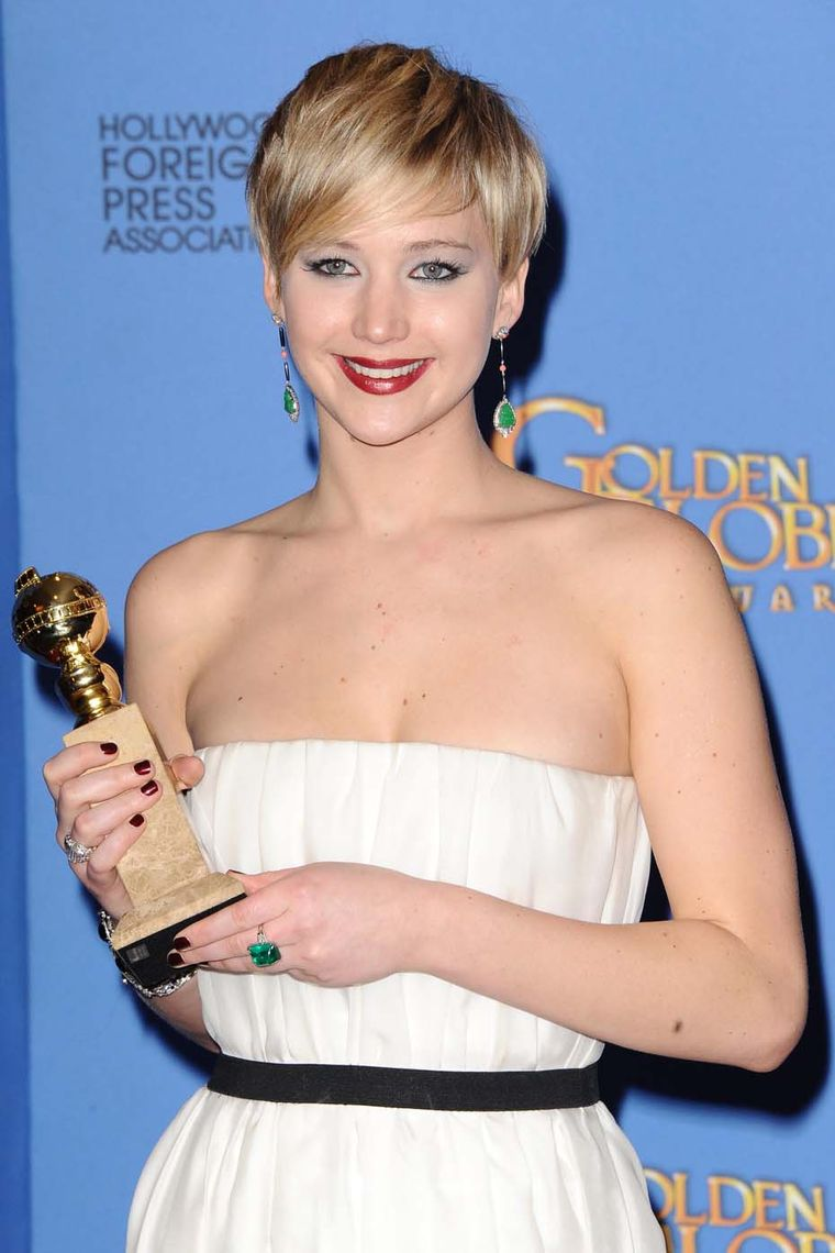 Winner of Actress in a Supporting Role in 'American Hustle', Jennifer Lawrence, opted for vintage Neil Lane jewels at the Golden Globes 2014