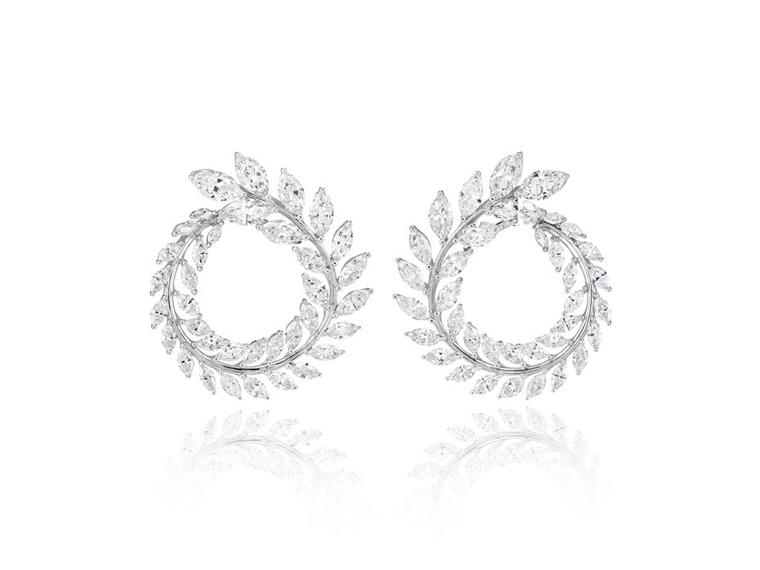 Chopard's Green Carpet Collection earrings are certified by the Responsible Jewellery Council (RJC) and crafted from Fairmined white gold