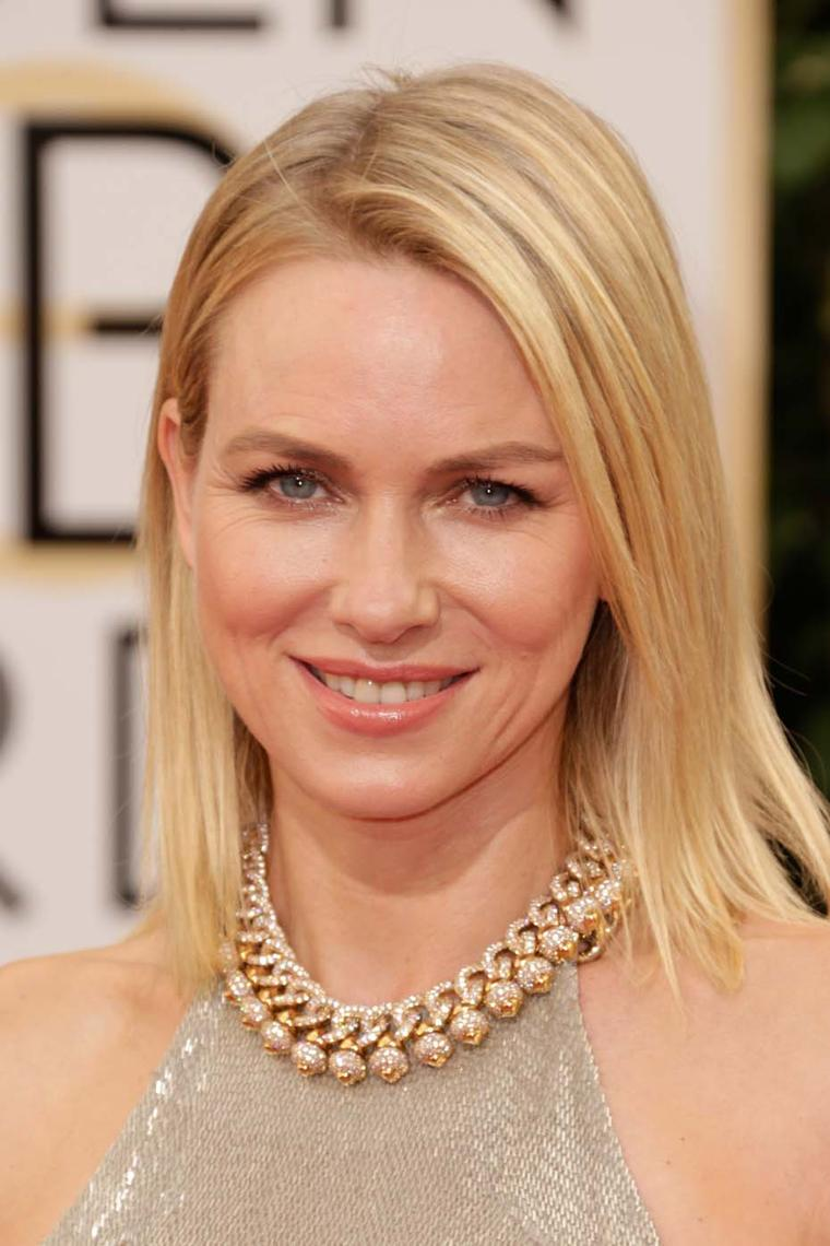 Naomi Watts shines in vintage Bulgari at the Golden Globes 2014