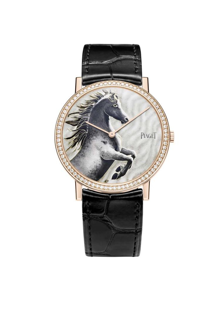 The 38mm Piaget Horse Altiplano painted enamel watch
