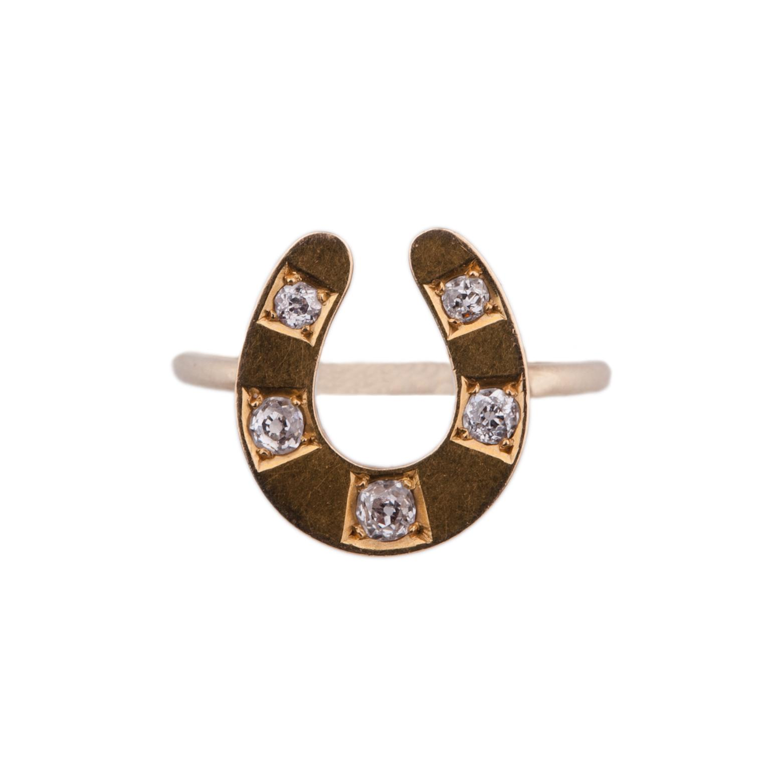 Annina Vogel's gold and rose cut diamond horseshoe ring (£650).