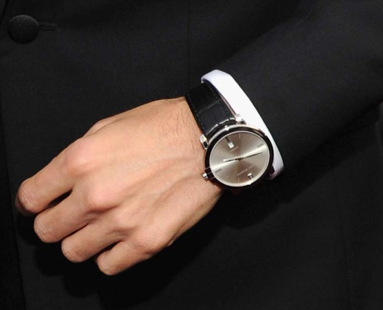 A close up of the Harry Winston Midnight watch worn by Jared Leto at the Screen Actors Guild Awards 2014