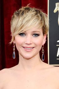Drop earrings and colourful jewels light up the Screen Actors Guild Awards red carpet in LA