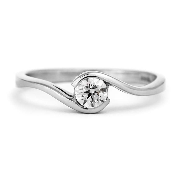 CRED brilliant wrap engagement ring in white gold, available at Olive & Reg.