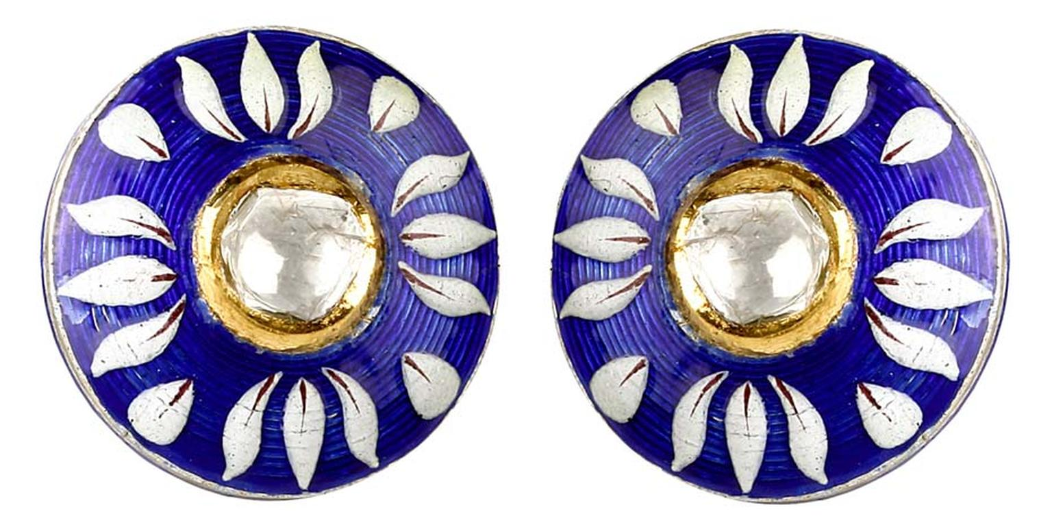 Sunita Shekhawat's cufflinks from the Blue Pottery Collection.