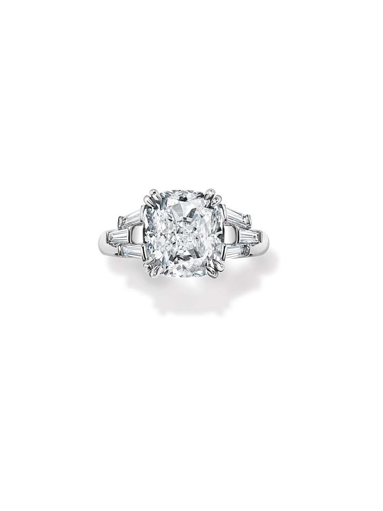Harry Winston The Ultimate Bridal Collection cushion cut diamond ring (£POA)