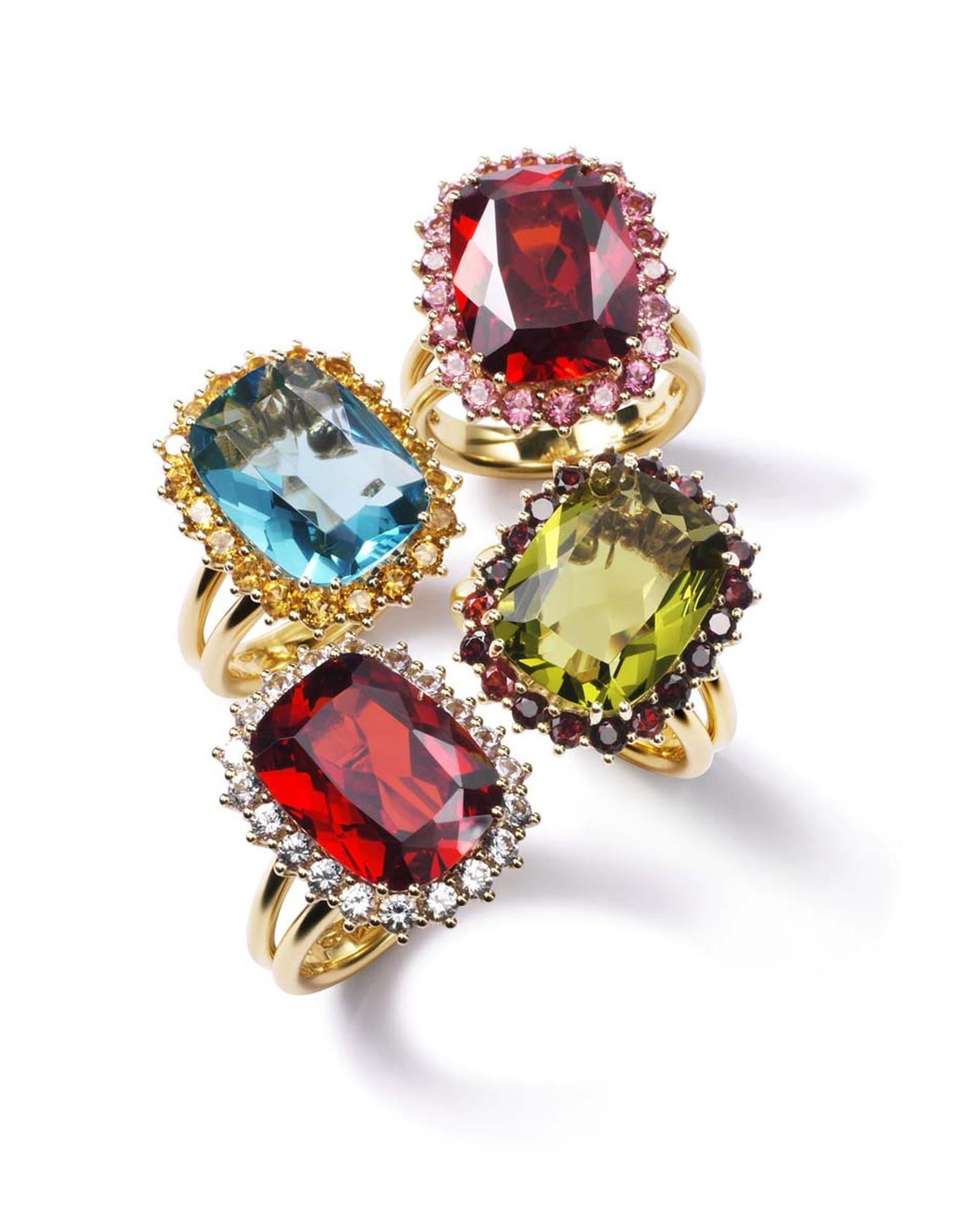 Dolce & Gabbana's colourful new collection of engagement rings (£POA).