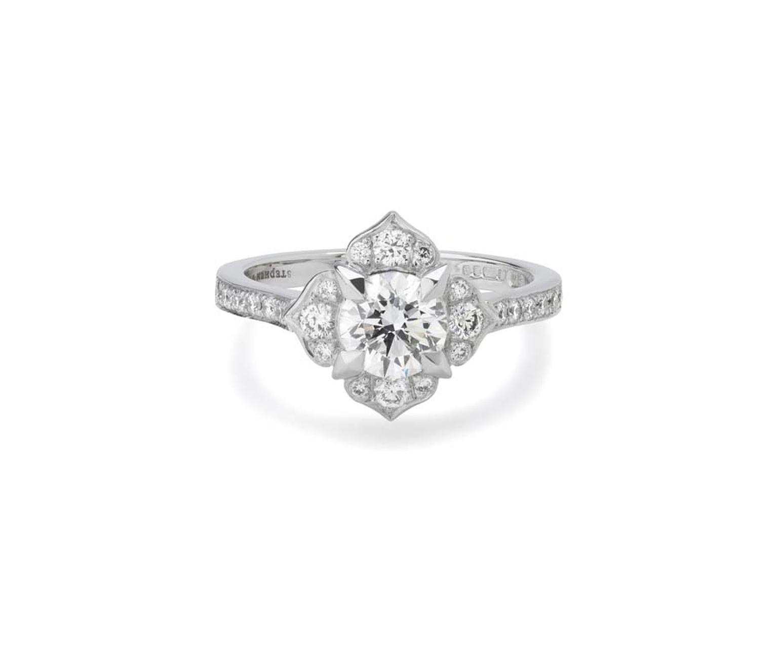 Stephen Webster's Bridal Collection 'Heritage' Fleur engagement ring with Forevermark diamonds.