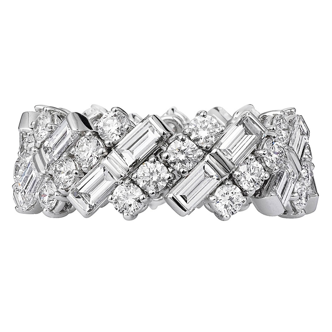 Cartier white gold and diamond ring (£POA).
