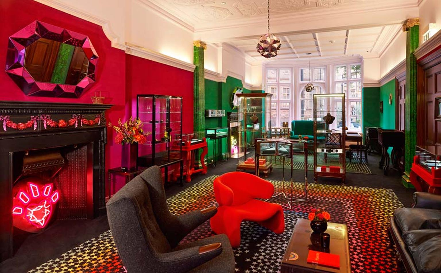 Opened in 2013, Solange Azagury-Partridge's luxurious townhouse on Mount Street in Mayfair, London, is as colourfully eclectic as her designs.