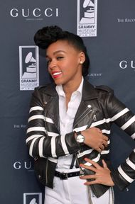 Janelle Monae puts on a rousing performance at the Grammy Museum wearing the new Gucci Grammy Interlocking watch