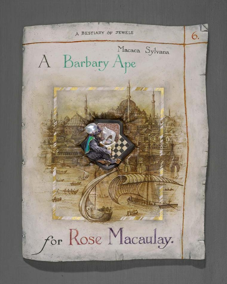 'A Barbary Ape for Rose Macauley' brooch by Kevin Coates