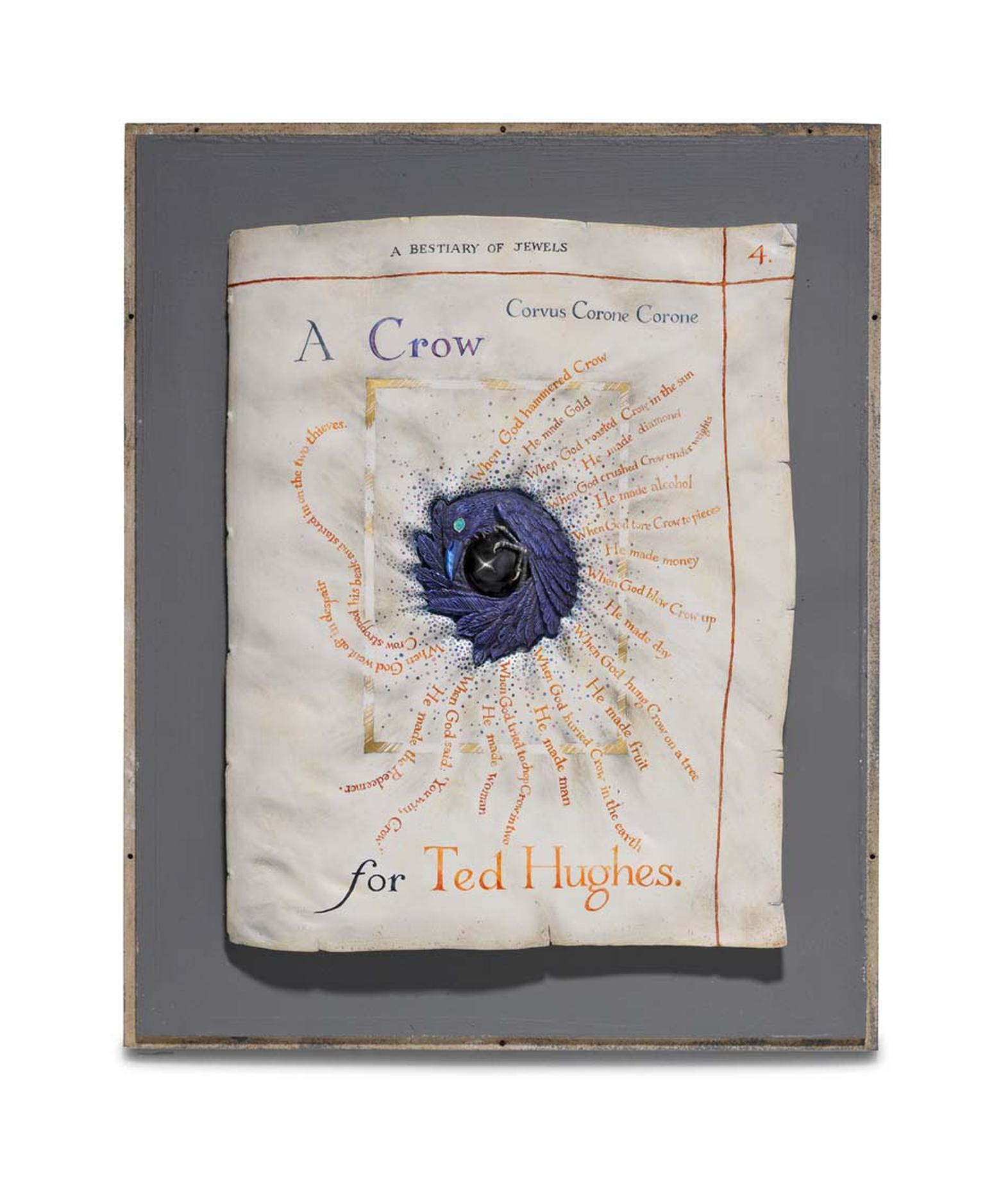 Kevin Coates 'A Crow for Ted Hughes' 2012 brooch