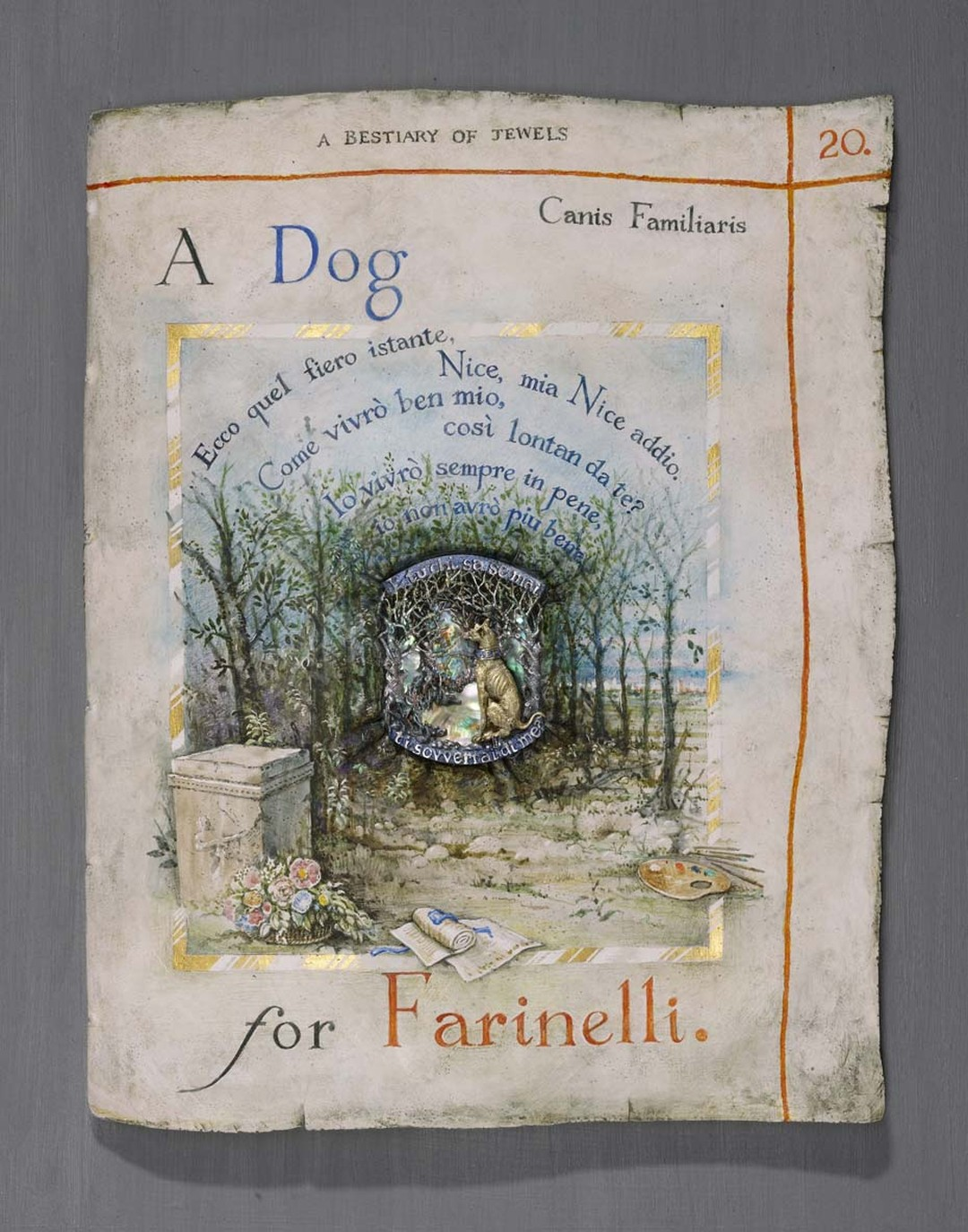 Kevin Coates ' A Dog for Farinelli' 2013 brooch