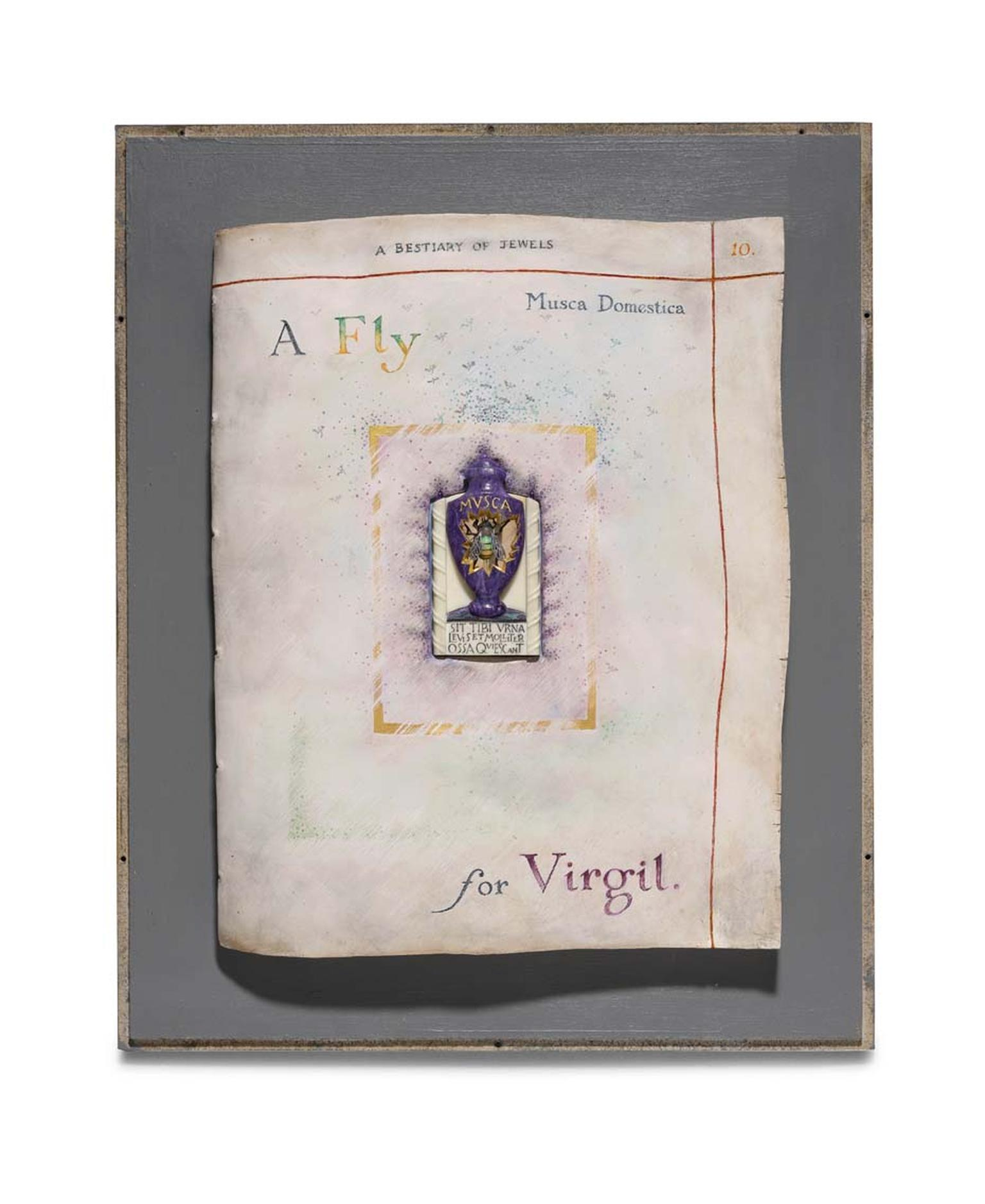 Kevin Coates 'A Fly for Virgil' 2012 brooch