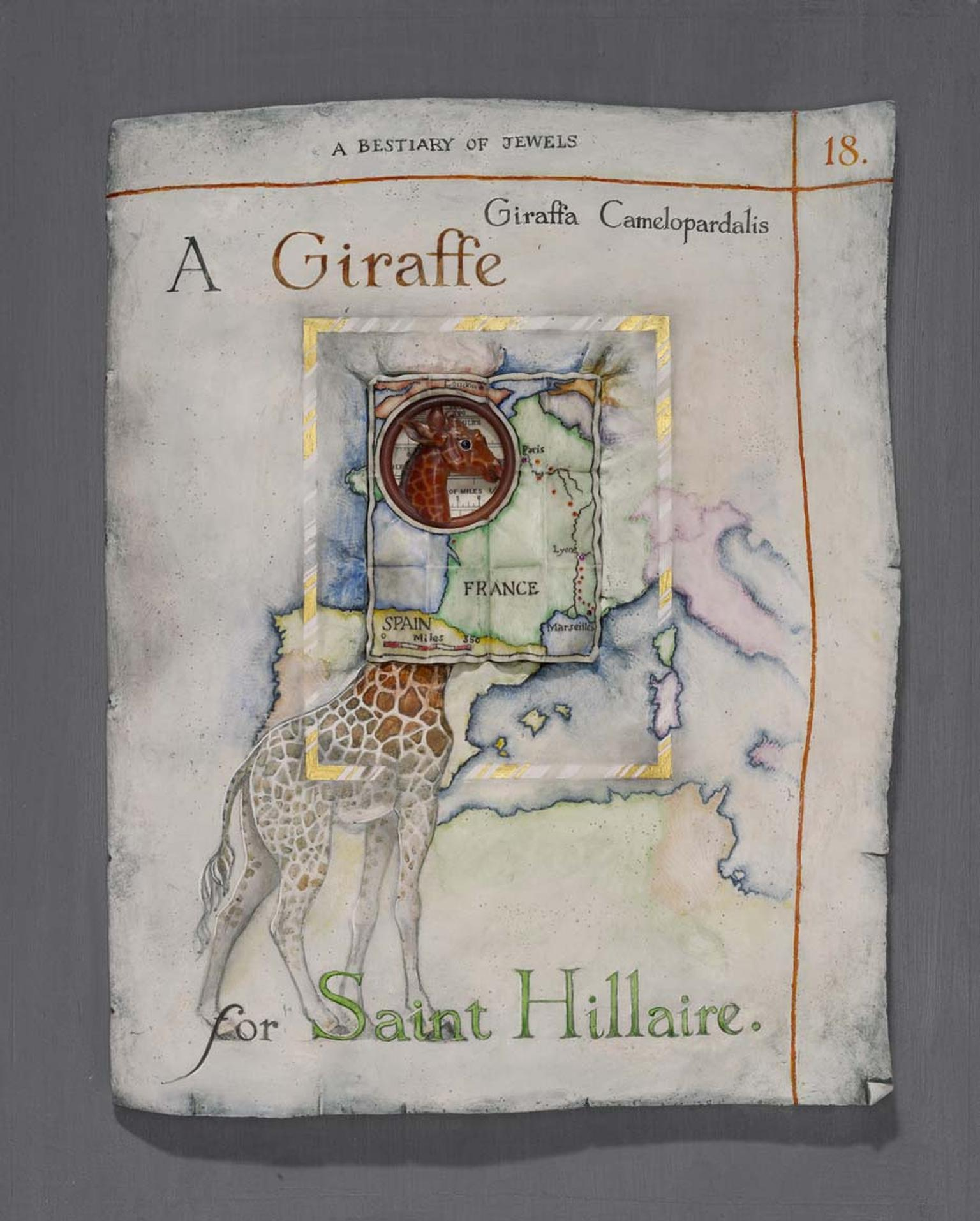 Kevin Coates 'A Giraffe for Saint Hillaire' 2013 Pectoral brooch