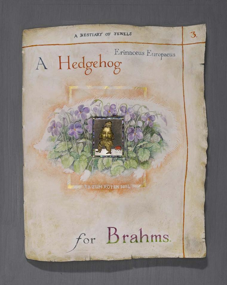 Kevin Coates 'A Hedgehog for Brahms' 2005 brooch