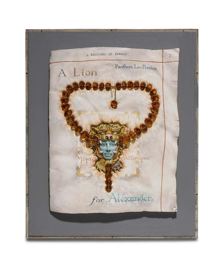 Kevin Coates 'A Lion for Alexander' 2012 neckpiece