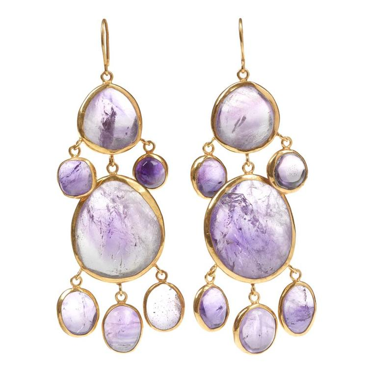 Pippa Small Kunzite chandelier earrings