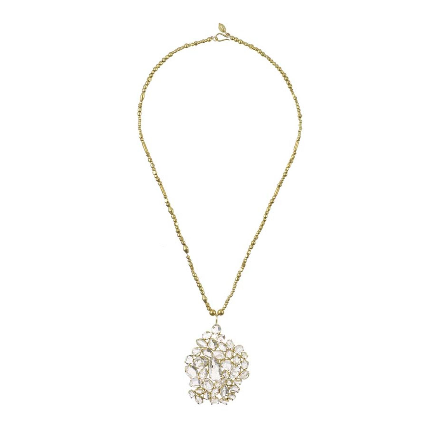 Invisible Set collection diamond necklace by Pippa Small