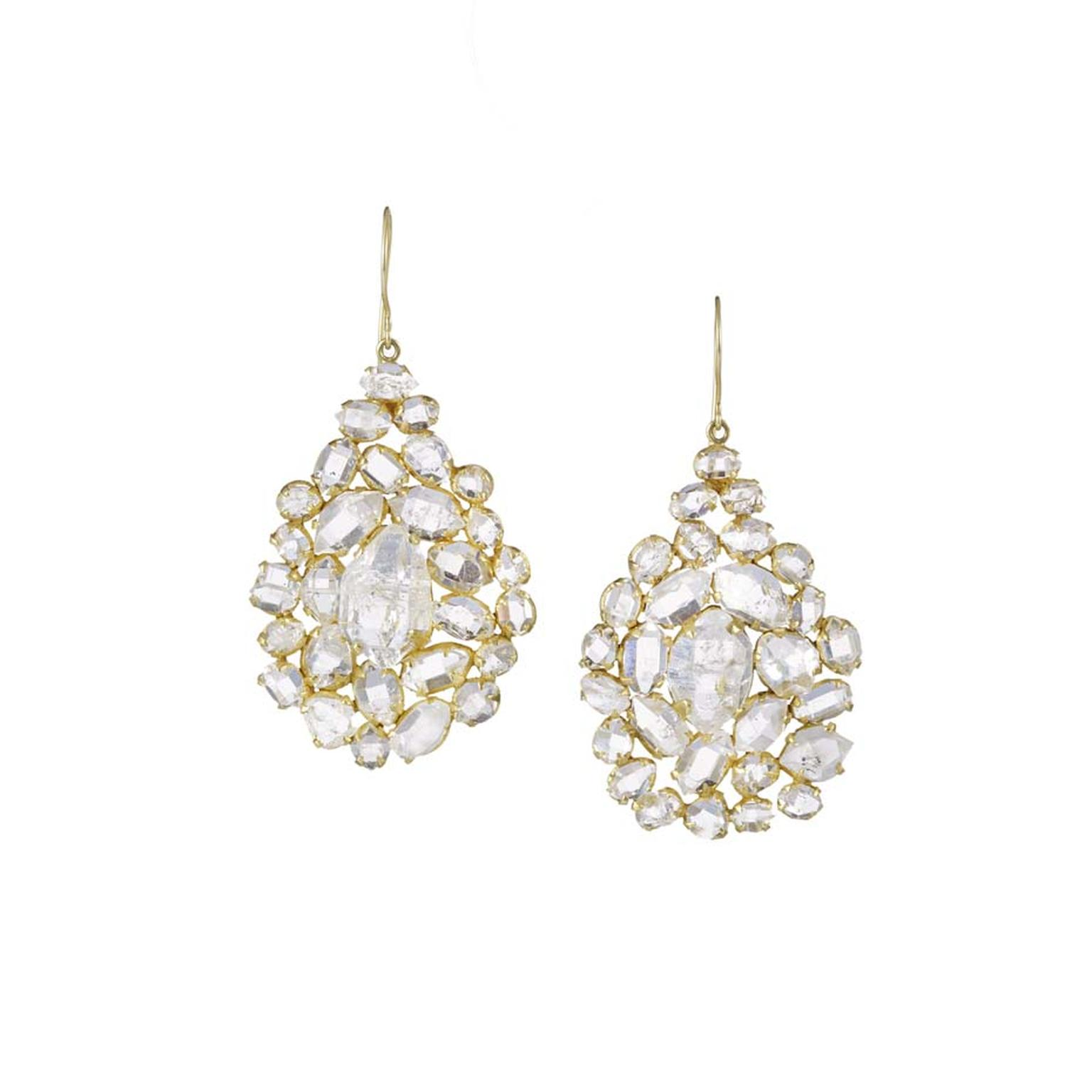 Invisible Set collection diamond earrings by Pippa Small