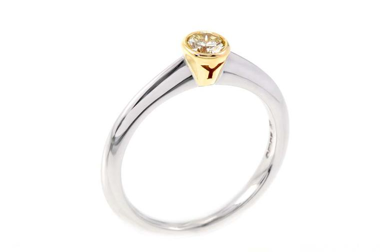 Why Jewellers engagement ring in white and yellow Fairtrade gold