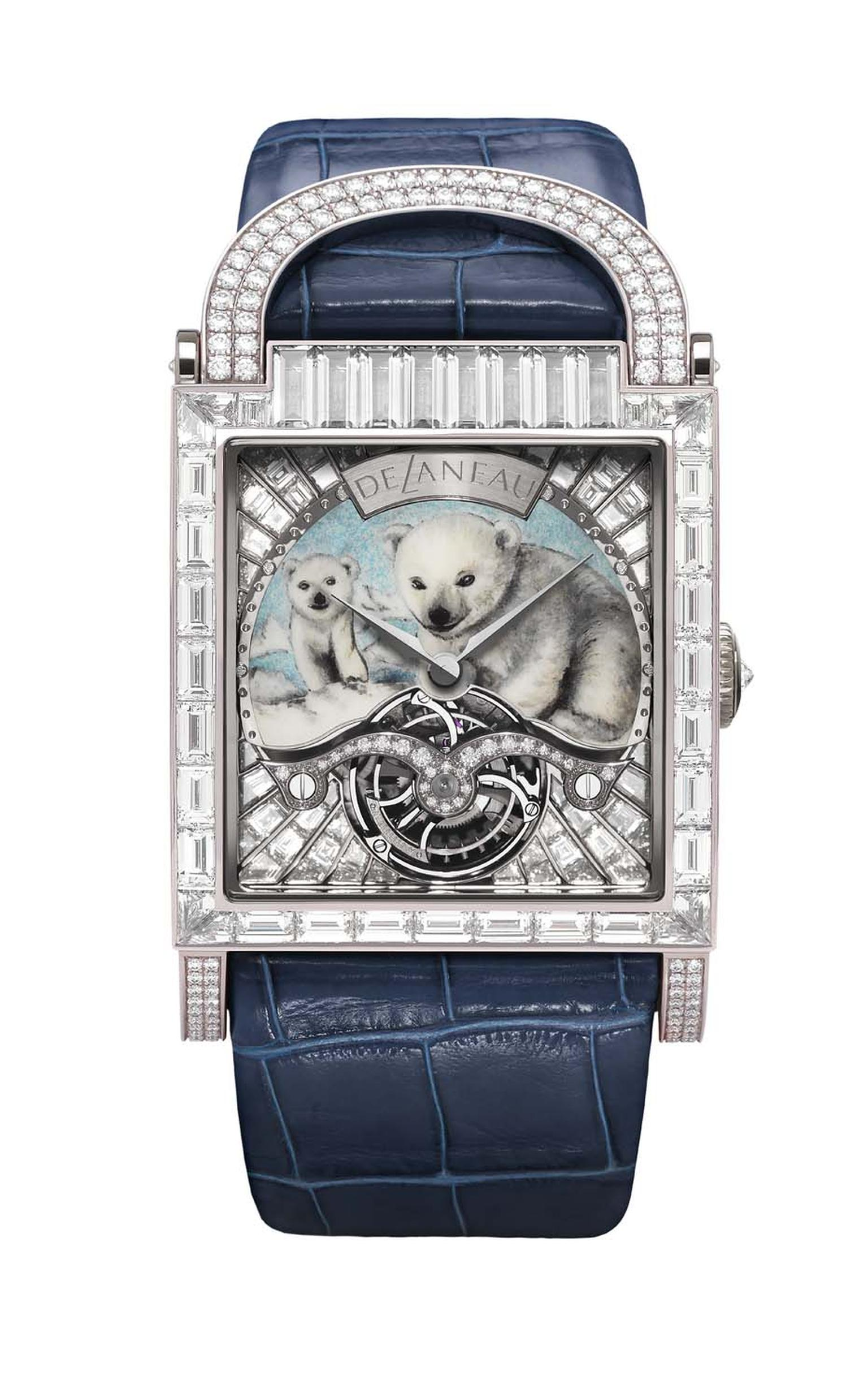 DeLaneau Dôme Tourbillon Tourbillon Polar Bear watch