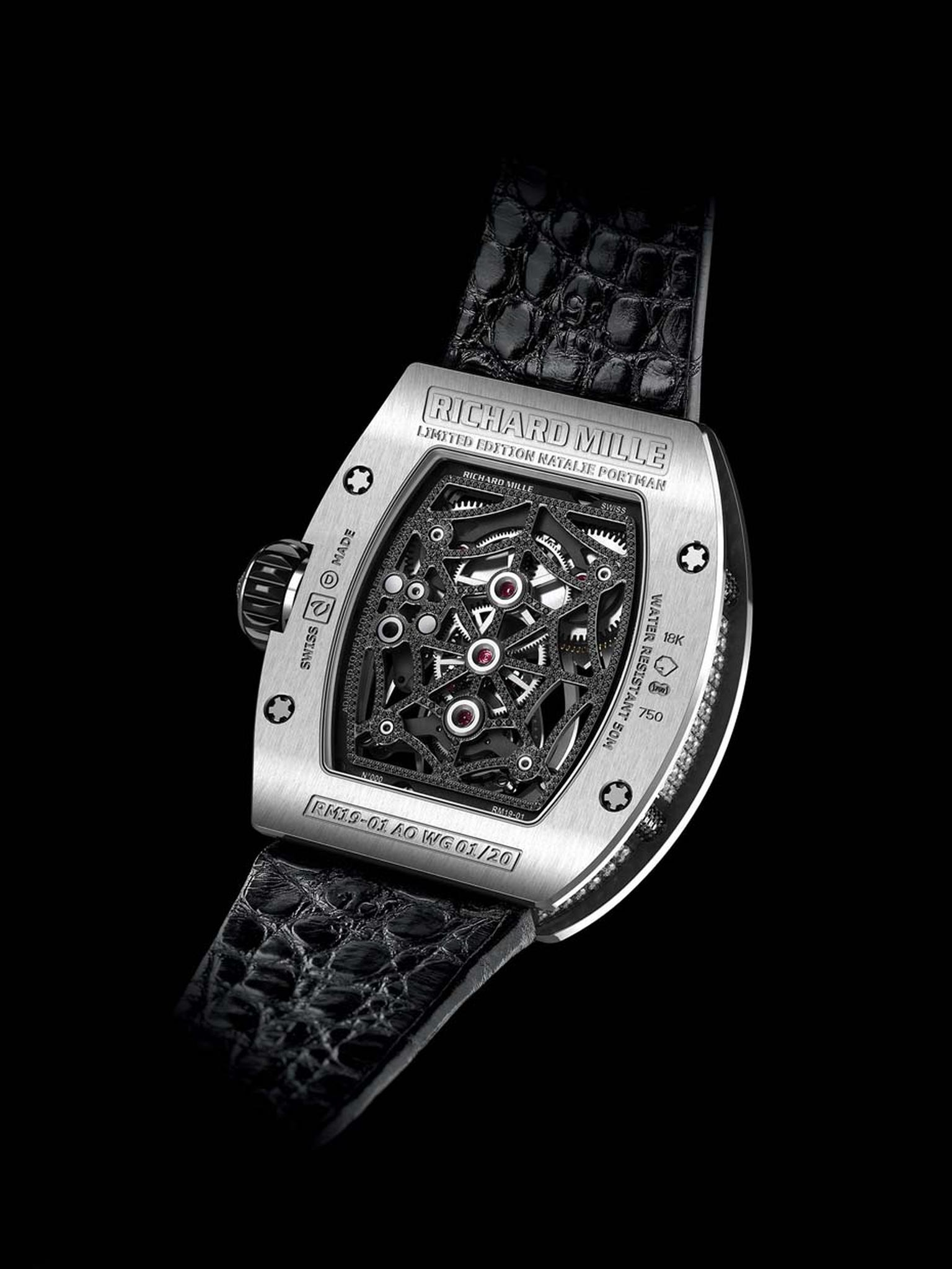 The reverse of Richard Mille's RM19-01 Natalie Portman