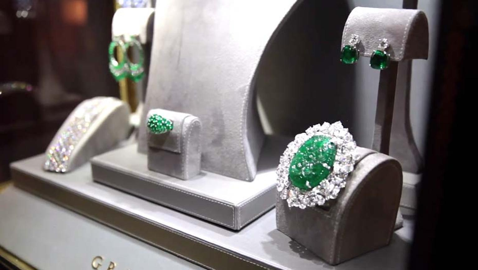 Graff emerald and diamond jewels