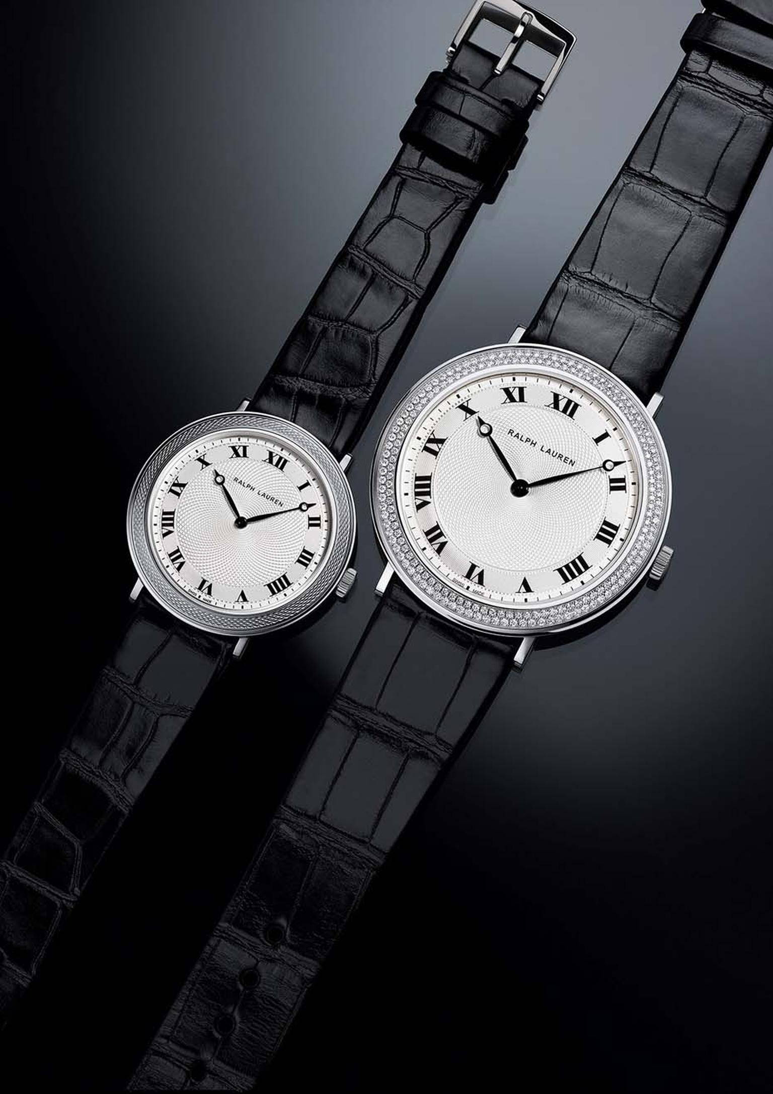 Ralph Lauren Slim Classique collection watches in white gold