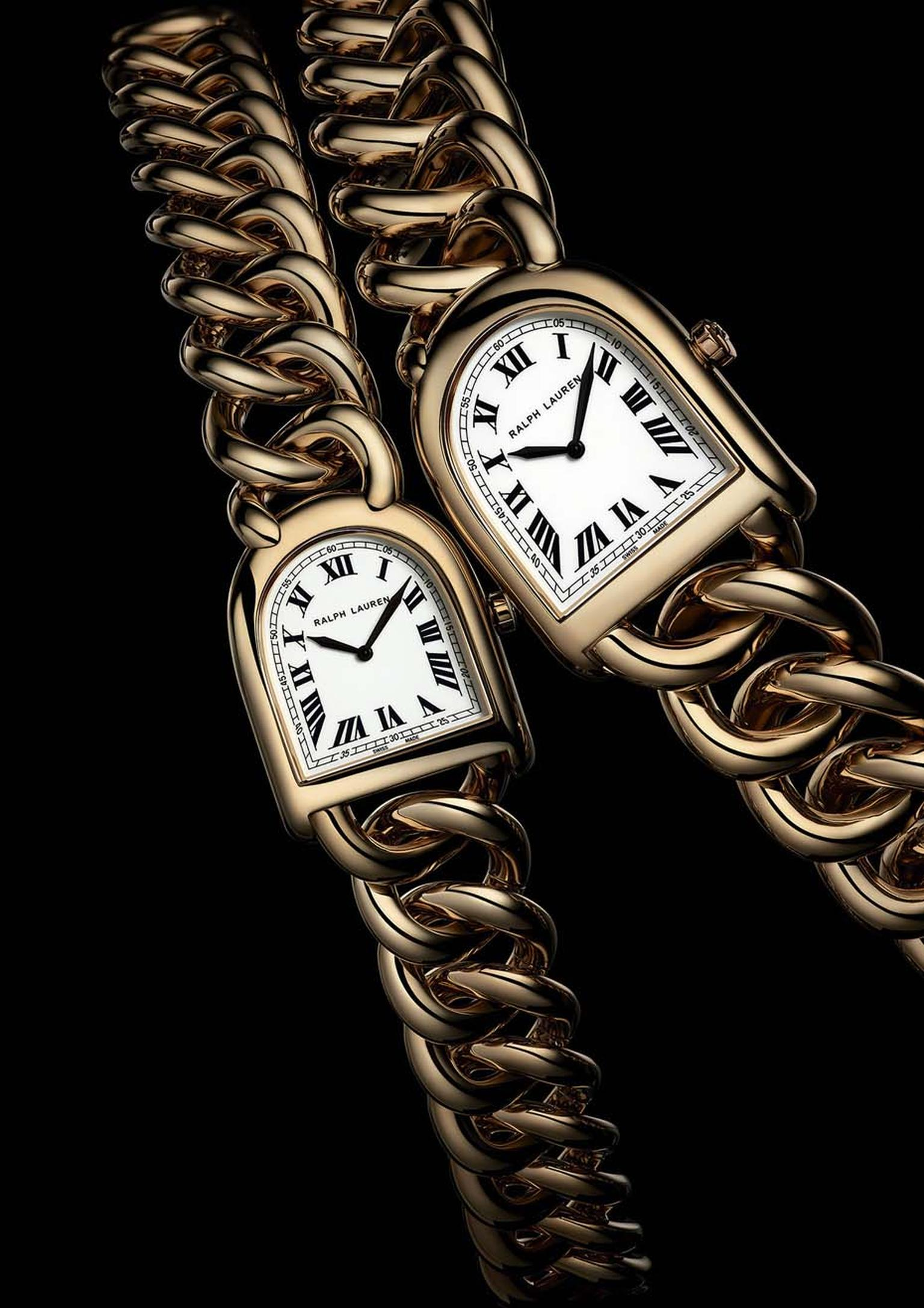 Ralph Lauren Stirrup watches in rose gold