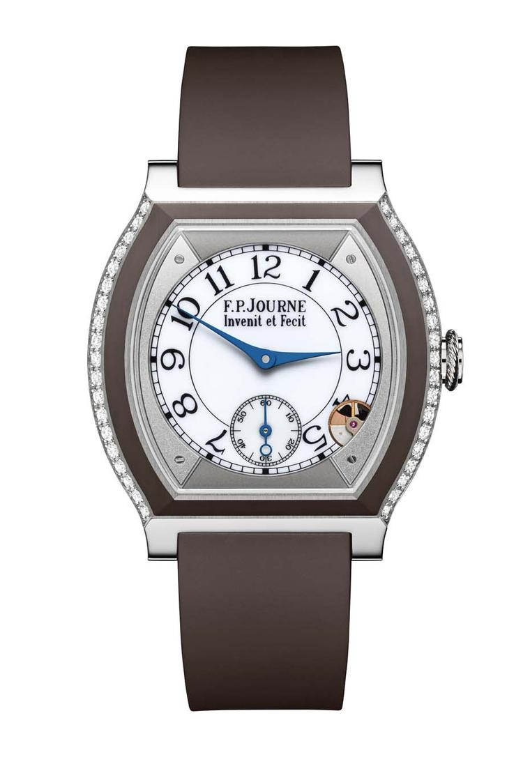 F.P. Journe Élégante watch in titanium and brown rubber
