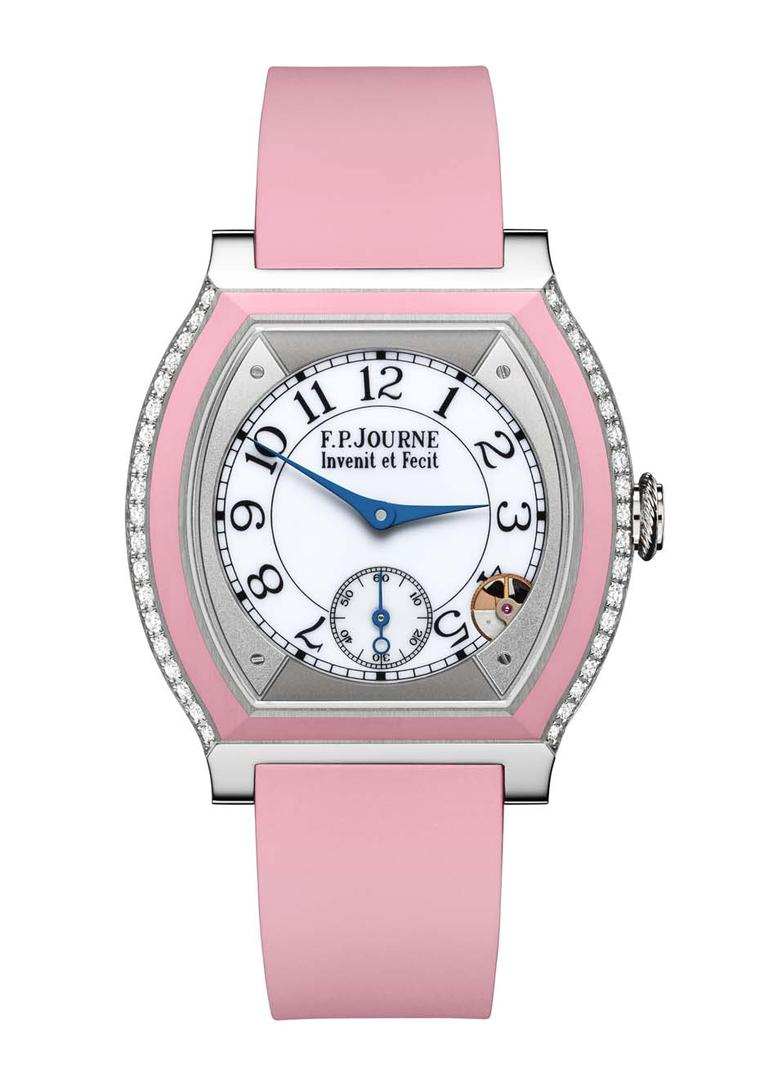 F.P. Journe Élégante watch in titanium and bubblegum pink rubber